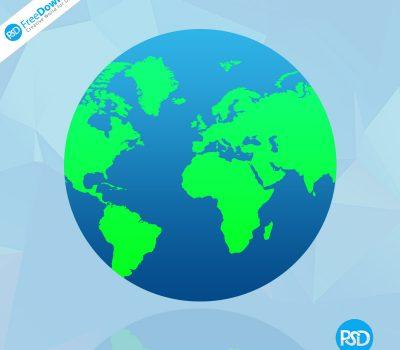 Globe PSD Free Download