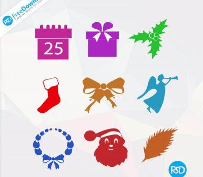 PSD Christmas Icons
