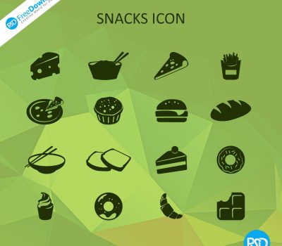 Snacks Icons PSD Free Download