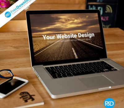Free Laptop Mockup PSD Design
