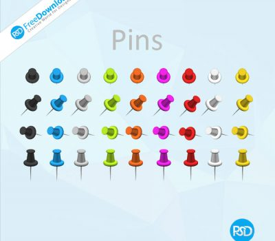 Board Pins PSD Design