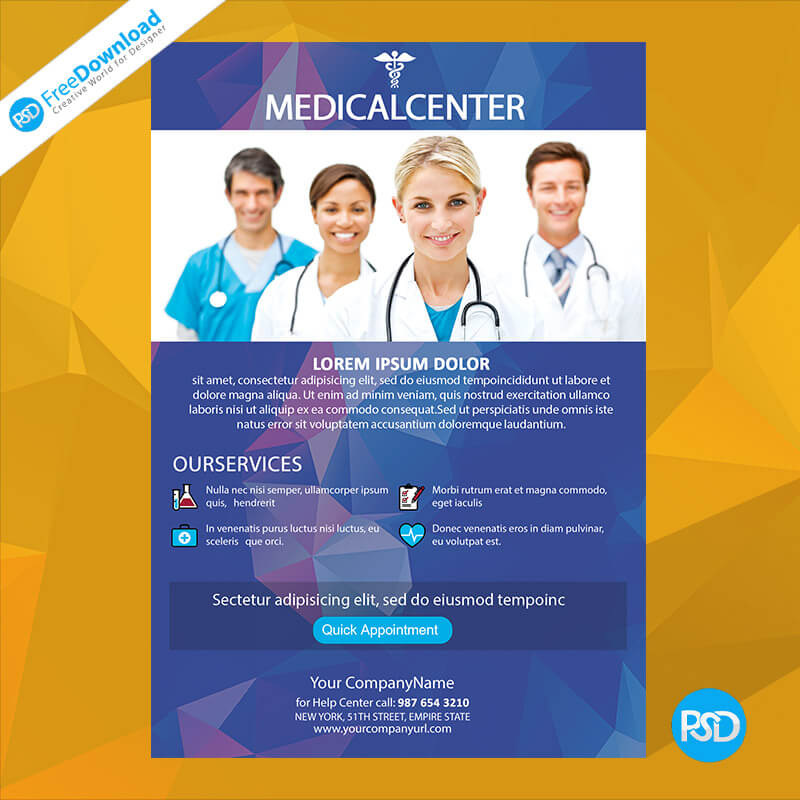 Medical Flyer Free Mockup Template Psd Free Download