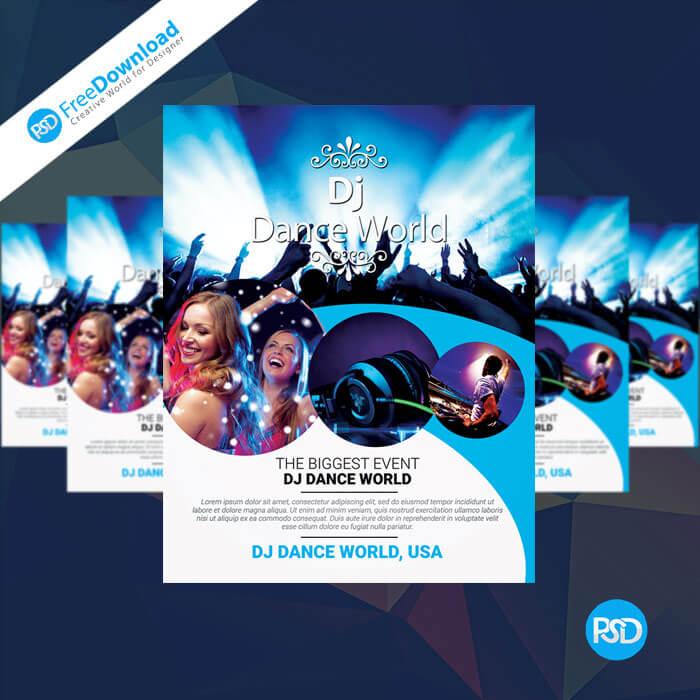 Free DJ Flyer PSD Templates