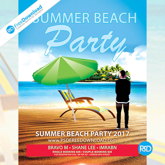 Free Summer Beach Party Flyer