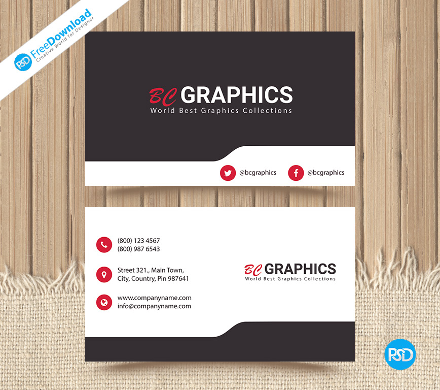 Corporate Business Card PSD Template - PSD Free Download
