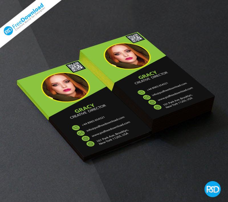 creative business card design psd  psd free download